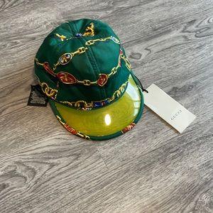 NWT Gucci silk vinyl baseball hat